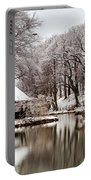 Still Lake In Winter Portable Battery Charger