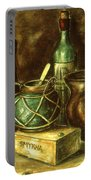 Still Life 72 - Oil On Wood Portable Battery Charger