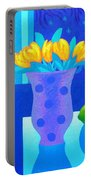 Still Life At Window IIi Portable Battery Charger by John  Nolan