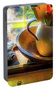 Still Life By Window Portable Battery Charger