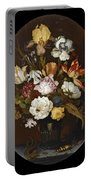 Still Life Of Flowers In A Glass Vase Portable Battery Charger