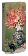 Still Life Of Fruits And Flowers Portable Battery Charger