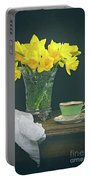 Still Life On Rustic Table Portable Battery Charger