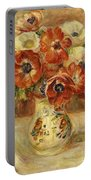 Still Life With Anemones  Portable Battery Charger by Pierre Auguste Renoir