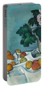 Still Life With Apples And A Pot Of Primroses, 1890 Portable Battery Charger