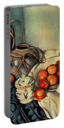 Still Life With Apples Portable Battery Charger by Paul Cezanne
