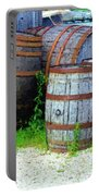Still Life With Barrels Portable Battery Charger