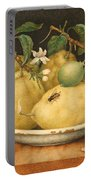Still Life With Bowl Of Citrons Portable Battery Charger