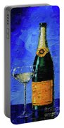 Still Life With Champagne Bottle And Glass Portable Battery Charger