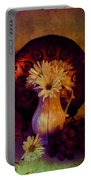 Still Life With Daisies And Grapes - Oil Painting Edition Portable Battery Charger