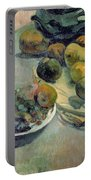 Still Life With Fruit Portable Battery Charger by Paul Gauguin