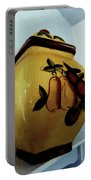 Still Life With Fruited Pottery Portable Battery Charger