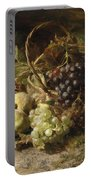 Still-life With Grapes And Pears Portable Battery Charger