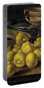 Still Life With Lemons And A Pot Of Honey Portable Battery Charger