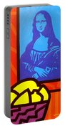 Still Life With Matisse And Mona Lisa Portable Battery Charger