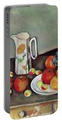 Still Life With Milkjug And Fruit Portable Battery Charger by Paul Cezanne
