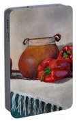 Still Life With Red Peppers Portable Battery Charger