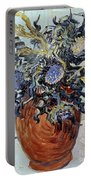 Still Life With Thistles Portable Battery Charger by Vincent van Gogh