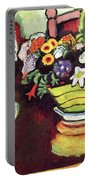 Still Life With Venison And Ostrich Pillow By August Macke Portable Battery Charger