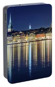 Stockholm Old City Magic Quartet Reflection In The Baltic Sea Portable Battery Charger