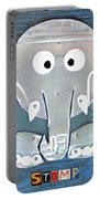 Stomp The Elephant Recycled License Plate Animal Art Portable Battery Charger