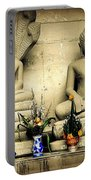 Stone And Flowers - Buddhist Shrine Portable Battery Charger
