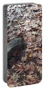 Stone And Leaves Portable Battery Charger
