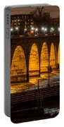 Stone Arch Bridge Night Shot Portable Battery Charger