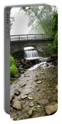 Stone Bridge Over Small Waterfall Portable Battery Charger