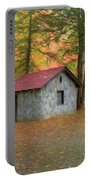Stone Building In Autumn Portable Battery Charger