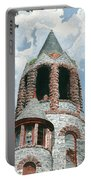 Stone Church Bell Tower Portable Battery Charger by Dominic White