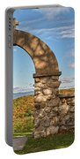 Stone Church In Autumn Portable Battery Charger