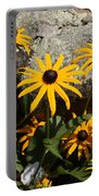 Stone Flowers Black Eyed Susan Portable Battery Charger