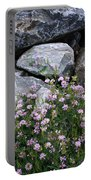 Stone Flowers Pink Portable Battery Charger