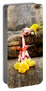 Stone Hand Of Buddha Portable Battery Charger by Adrian Evans