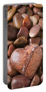 Stone Heart Portable Battery Charger by Garry Gay