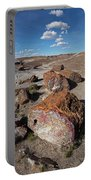 Stone Log Smoke Signals Portable Battery Charger