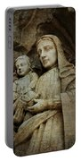Stone Madonna And Child Portable Battery Charger