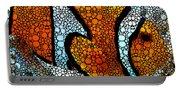 Stone Rock'd Clown Fish 2 - Sharon Cummings Portable Battery Charger