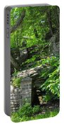 Stone Stairway Along The Wissahickon Creek Portable Battery Charger
