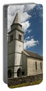Stone Tile Roof Of The Church Of The Holy Cross In Tomaj Parish  Portable Battery Charger