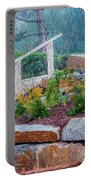 Stone Wall And Stairs Portable Battery Charger
