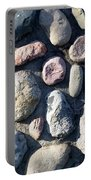 Stone Wall At Gallup Park Portable Battery Charger