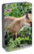Stopping To Smell The Flowers Portable Battery Charger