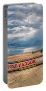 Storm Clouds In Stone Harbor Portable Battery Charger
