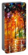 Storm Of Emotions - Palette Knife Oil Painting On Canvas By Leonid Afremov Portable Battery Charger