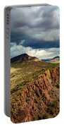 Storm Over Cliffs Portable Battery Charger