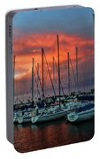 Storm Over The Newport Harbor Portable Battery Charger