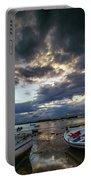 Storms At Dusk In La Caleta Cadiz Spain Portable Battery Charger
