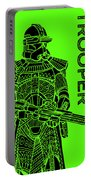 Stormtrooper - Green - Star Wars Art Portable Battery Charger